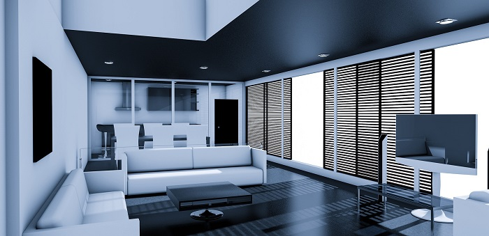 Biele obývacie steny do novostavby